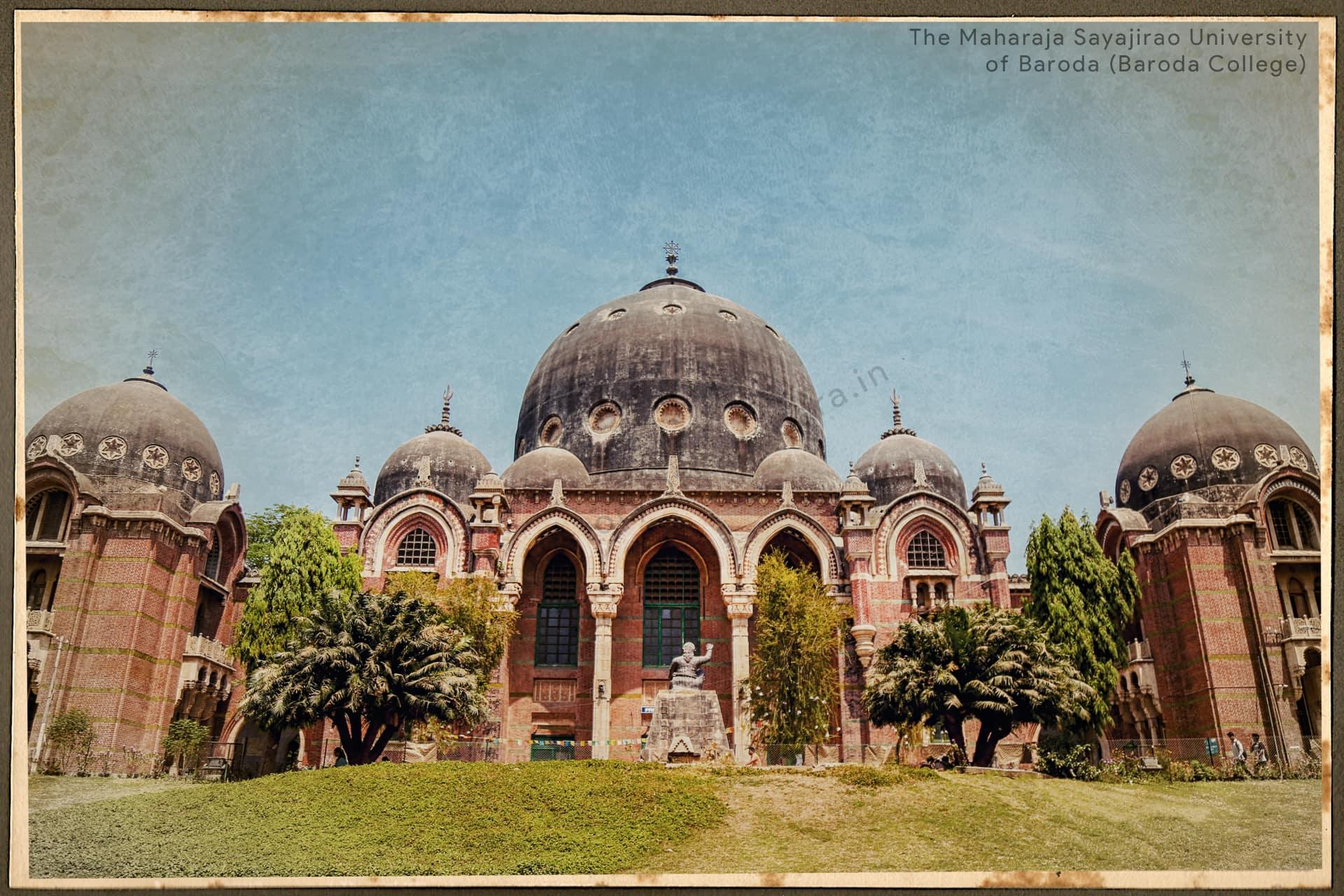 The Maharaja Sayajirao University Msu History Of Vadodara Baroda